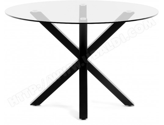Table De Salle A Manger Lf Arya Table Ronde Pieds Noir Pas Cher Ubaldi Com