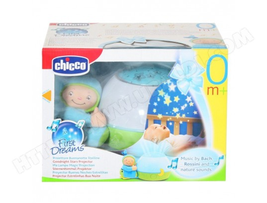 veilleuse musicale chicco lampe magic projection bleu pas cher