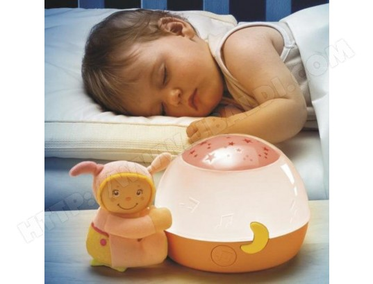 veilleuse musicale chicco ma lampe magic'projection rose pas cher