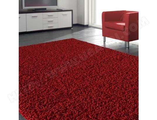 Tapis chambre SHAGGY LOCA rouge 120 x 170 cm Tapis de Salon ...
