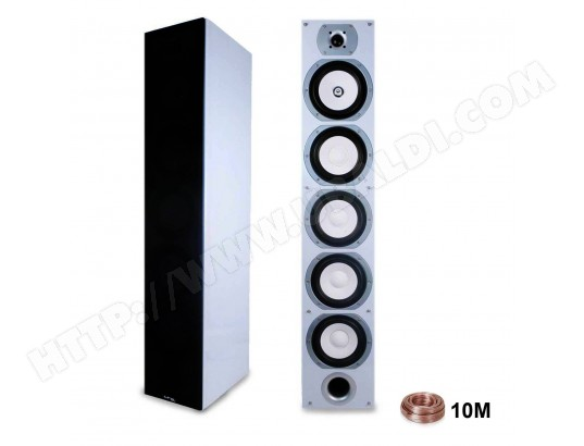 Paire d'enceintes LTC V7B-WHITE Hifi /Home-Cinéma Home SOUND 880W + 10M de câble LTC AUDIO MA-79CA34_PAIR-MM3IX