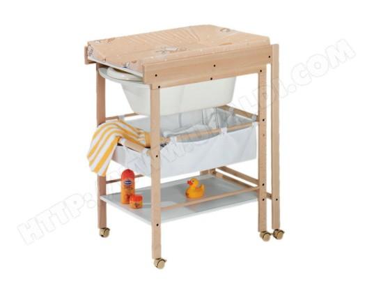 table langer baignoire geuther hanna naturel blanc pas cher. Black Bedroom Furniture Sets. Home Design Ideas