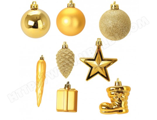 Kit de 40 boules et decoration de noel or 1001KDO MA-44CA560KITD-6AG8X