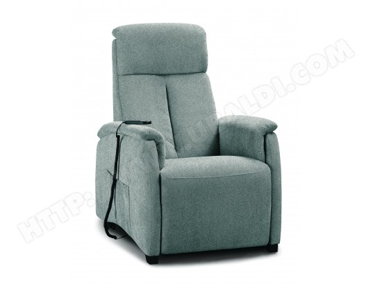 Fauteuil Relaxation SPAZIO RELAX Asia 83 cm 2 moteurs tissu marvel gris