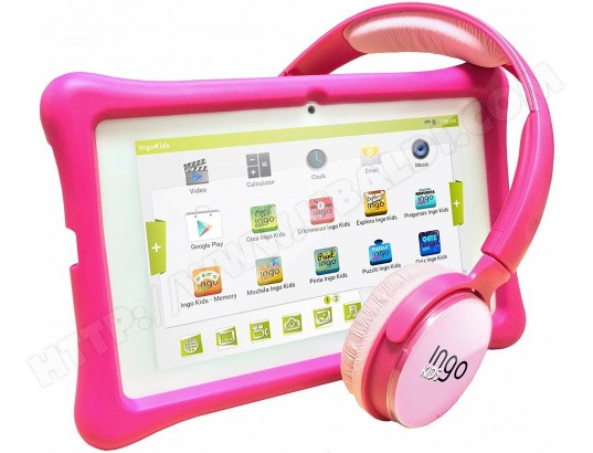 Ingo - Inu075p - Tablette Tactile - Pack Kids - Rose INGO MA-33CA396INGO-ZW0P3