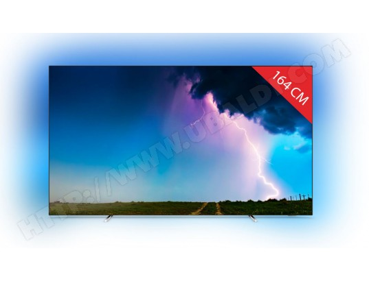 TV OLED 4K 164 cm PHILIPS Pack 65OLED754/12 + Kit Philips hue E27