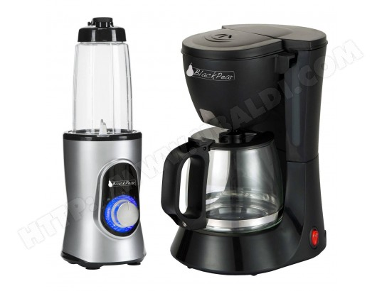 Cafetiere 10 / 12 TASSES Black Pear BCM112 + Blender Black Pear BBL100 220W capacité 0.6L gris BLACKPEAR MA-48CA101CAFE-JUHZI