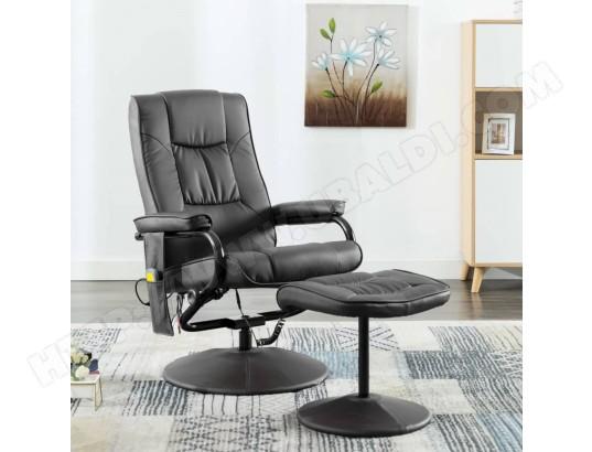 ICAVERNE Esthetique Fauteuils et chaises gamme Luxembourg Fauteuil de massage avec repose pied Gris Similicuir MA 78CA92_ESTH D05I4