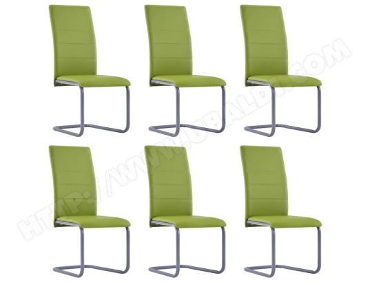 ICAVERNE Stylé Fauteuils et chaises categorie Abou Dabi 6 pcs Chaises de salle à manger Vert Similicuir MA 78CA493STYL GXVHX