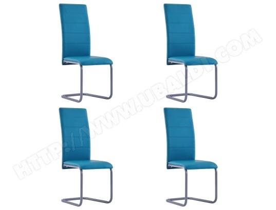 ICAVERNE Joli Fauteuils et chaises edition Ljubljana Chaises de salle à manger 4 pcs Bleu Similicuir MA 78CA493JOLI Z5PMZ