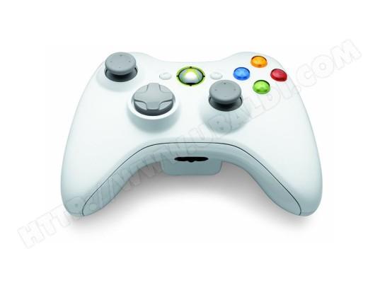 Manette Xbox 360 Microsoft Manette Sans Fil Blanche Xbox 360 Pas