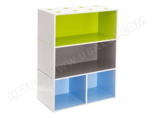 Meuble Cube Etageres Pour Enfant Bleu Vert Marron Dim L 54 X P 27 X H 81cm Pegane Pegane Ma 82ca194meub 1nhsa Pas Cher Ubaldi Com