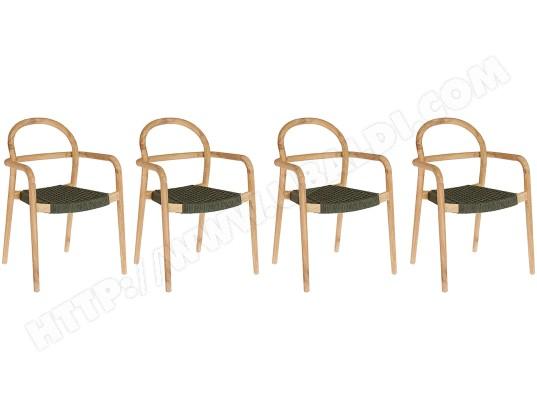 LF Chaise Sheryl lot 4 chaises vertes
