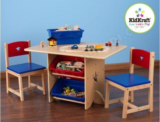 Ensemble Table Et Chaise Enfant KIDKRAFT Chaises Motif Etoile