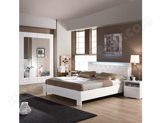 Chambre A Coucher Complete Blanche Design Alvara Nouvomeuble Ma