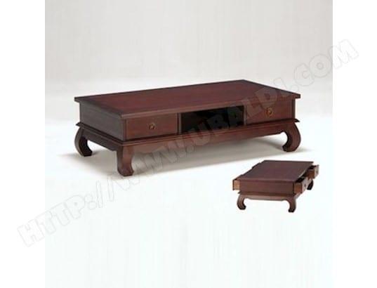 Table basse OPIUM 4 tiroirs / Teinte exotique LE QUAI DES ...