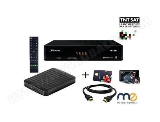 Pack R/écepteur Strong SRT 7404 HD D/éport IR Carte Viaccess TNTSAT C/âble HDMi Cordon 12V