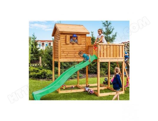 cabane pour enfants en bois s ch et lasur bastia fungoo a011490 pas cher. Black Bedroom Furniture Sets. Home Design Ideas