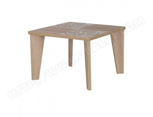 Table Basse Chêne Clair Carreaux De Ciment Annie L 60 X L 60 X H