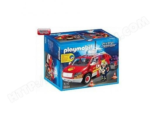 5364 Playmobil Vehicule d'intervention avec sirene 0115 PLAYMOBIL MA-63CA3745364-0D80Y