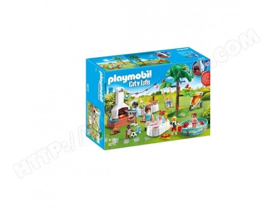 9272 Famille et barbecue estival, Playmobil City Life PLAYMOBIL MA-63CA3749272-QD088