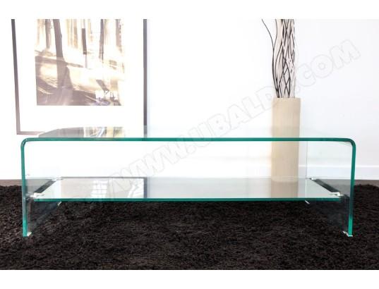 92a66e169fe5b5 Table basse UB DESIGN Vera verre courbé 110 x 55 cm Pas Cher ...