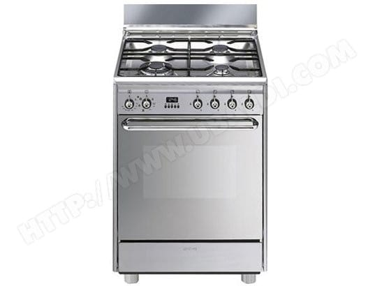 tout neuf ba737 d6bb2 SMEG SCB60MX9 Pas Cher - Cuisiniere gaz SMEG - Livraison ...