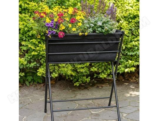 jardini re vegtrug poppy noir acd cmj938691 pas cher. Black Bedroom Furniture Sets. Home Design Ideas