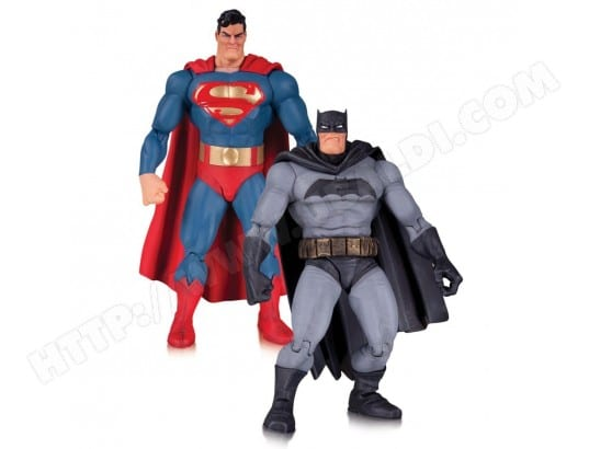 Batman The Dark Knight Returns - Pack 2 figurines Superman & Batman 30th Anniversary 17 cm DC COLLECTIBLES MA-55CA371BATM-KG17A