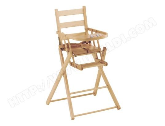 COMBELLE - Chaise haute Chaise extra pliante lattes 8