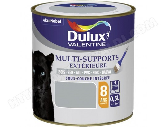 peinture multi supports ext rieure satin 0 5 l gris franc dulux valentine dulux ma. Black Bedroom Furniture Sets. Home Design Ideas