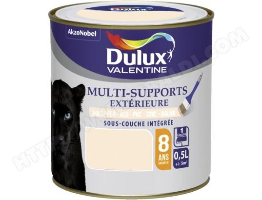 peinture multi supports ext rieure satin 0 5 l blanc cass dulux valentine dulux ma. Black Bedroom Furniture Sets. Home Design Ideas