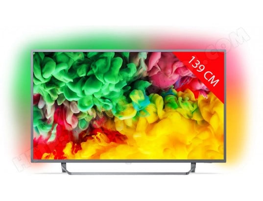 TV LED 4K 139 cm PHILIPS 55PUS6753/12