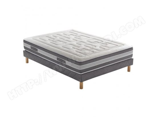 ensemble matelas cicaloe 588 ressorts ensach s sommier aloe pieds 180x200 avec 2 sommiers. Black Bedroom Furniture Sets. Home Design Ideas