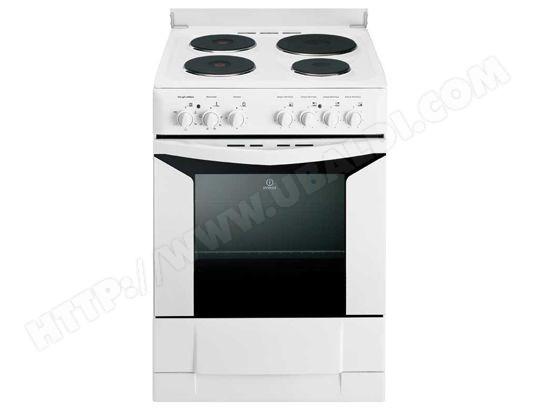 indesit k6e51w pas cher cuisiniere electrique indesit. Black Bedroom Furniture Sets. Home Design Ideas