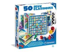 Clementoni - 50 jeux classiques - jeu de société CLEMENTONI MA-32CA387CLEM-WKAN1