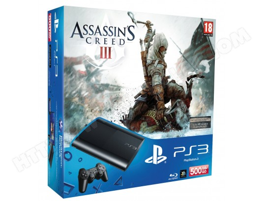 Console PS3 SONY 500 Go Noire + Assassin's Creed 3