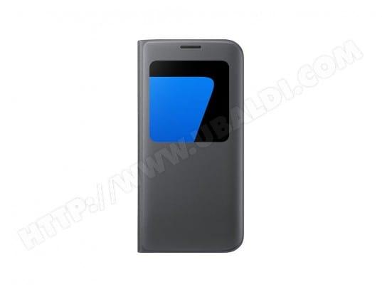 Etui type S-View noir pour Samsung Galaxy S7 Edge TBD MA-42CA500ETUI ... 4a2071c9280b