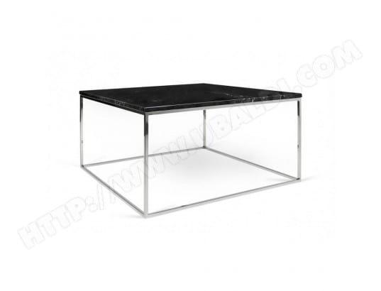 inside75 table basse rectangulaire gleam 75 plateau en marbre noir structure chrome ma 42ca182tabl tef91 - Inside75 Table Basse