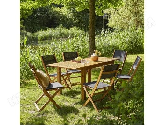 lot de 2 chaises en rotin et m tal bois dessus bois dessous 4013d pas cher. Black Bedroom Furniture Sets. Home Design Ideas