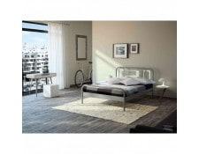 TERRE DE NUIT MA-69CA186LITE-QAGU0 Lit en métal gris et blanc 140x190 -  LT4001 4b3b268edf0a