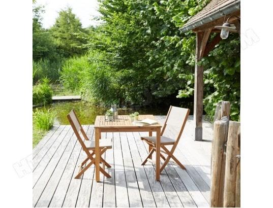 Salon de jardin en bois d\'acacia FSC 2 places BOIS DESSUS BOIS ...