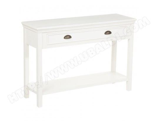 console 1 tiroir conall 110 x 80 cm blanc atmosphera ma 23ca182cons 9dqty pas cher. Black Bedroom Furniture Sets. Home Design Ideas