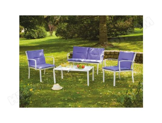Salon de jardin Mapya - 4 places - Lilas OZALIDE MA-23CA281SALO ...