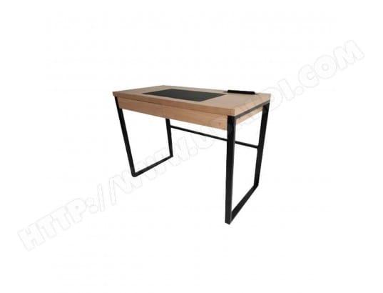Bureau industriel 100 x 50 cm noir et marron the home deco