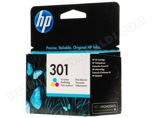 Cartouche d'encre HP HP301 pack couleurs Pas Cher | UBALDI.com