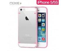 Coque Plexiglass Moxie contour et griffes couleur Rose pour iPhone 5 5S VOG  MA- 10a9d81514a
