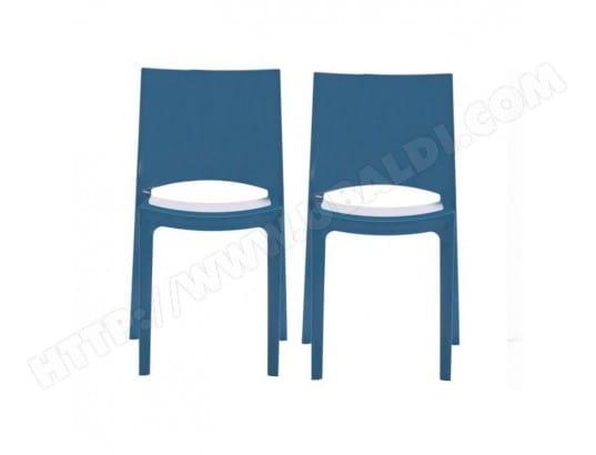 lot de 2 chaises sunshine empilables design bleu brillant grand soleil ma 44ca493lotd j2qu9 pas. Black Bedroom Furniture Sets. Home Design Ideas