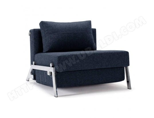 Fauteuil design SOFABED CUBED 02 CHROME Mixed Dance_Blue convertible lit 200*96 cm INSIDE75 MA-42CA92_FAUT-OJ59V
