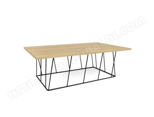 inside75 table basse helix 120 plateau chne structure laque noir mat ma 42ca182tabl fdnnh - Inside75 Table Basse
